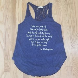 Hollister | Shakespeare Quote Lace Tank